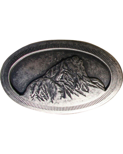 Mountain Khakis Teton Belt Buckle, Dark Grey, hi-res