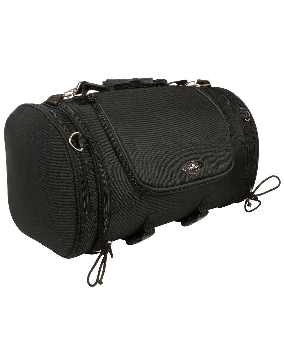 Milwaukee Leather Large Nylon Duffle Sissy Bar Bag, Black, hi-res