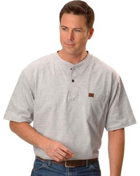 Riggs Workwear Men's Short Sleeve Henley T-Shirt, Ash, hi-res