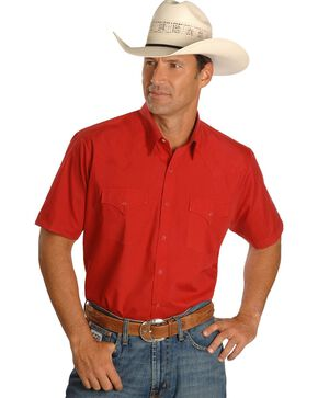 Ely Classic Western Shirt - Custom Fit, Neck Sizing, Red, hi-res
