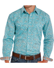 Rough Stock by Panhandle Men's Paisley Patterned Long Sleeve Shirt, , hi-res