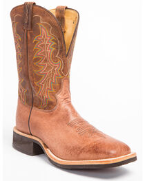 Tony Lama Men's Smooth Ostrich Cowboy Crepe Western Boots, , hi-res