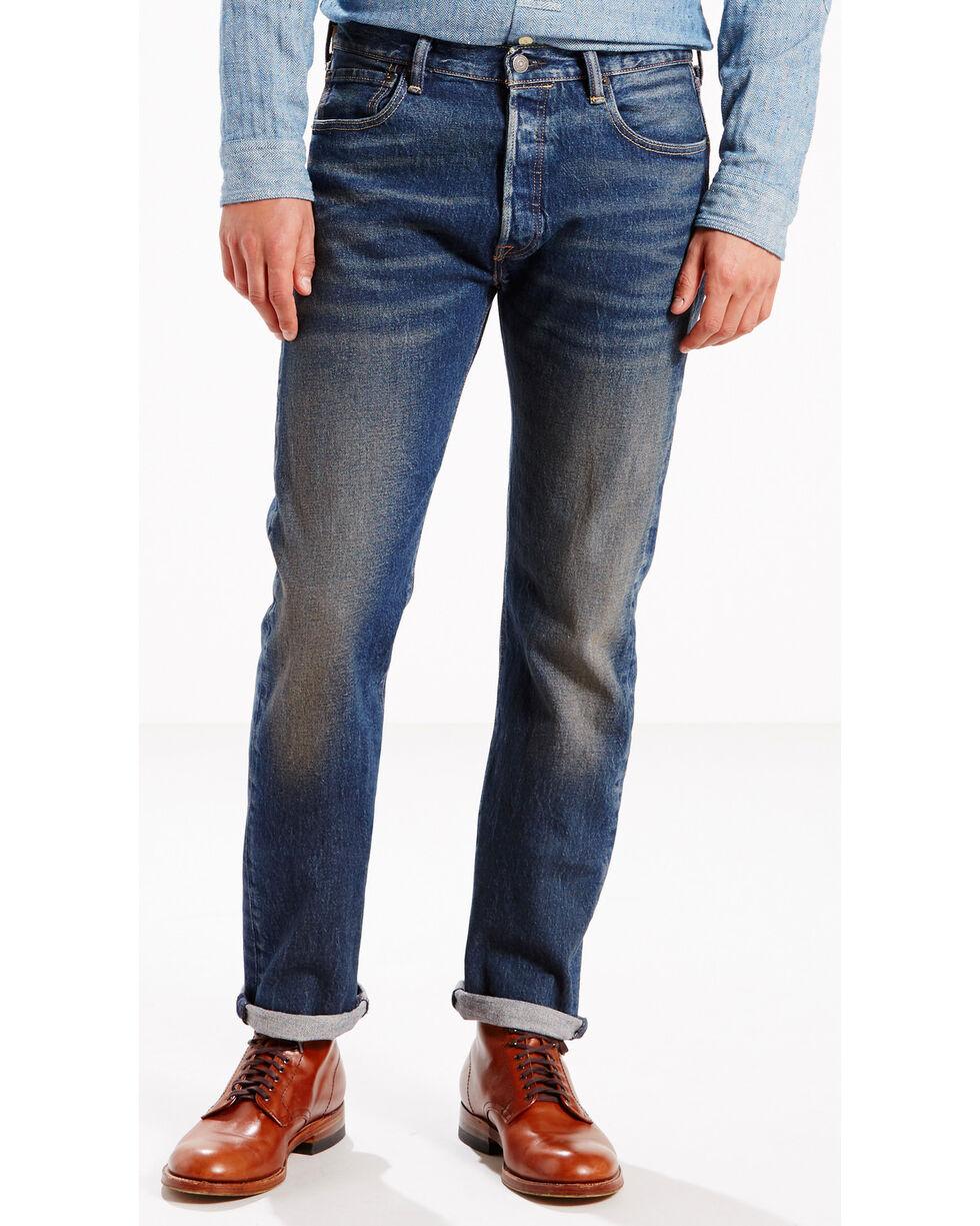 Levi's Men's 501 Original Fit Stretch Jeans, Indigo, hi-res