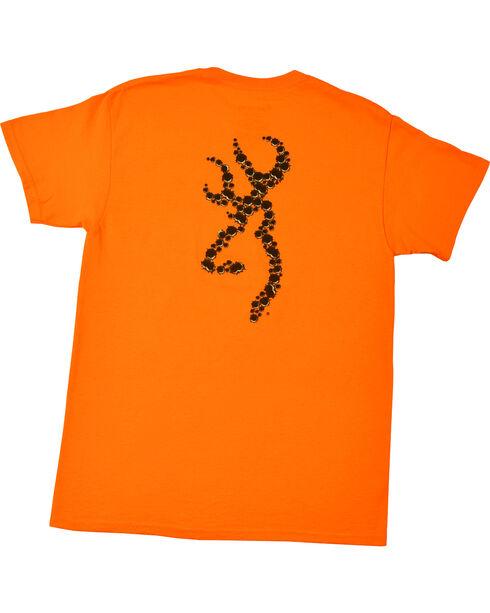 Browning Men's Orange Bullet Holes Buckmark T-Shirt , Orange, hi-res