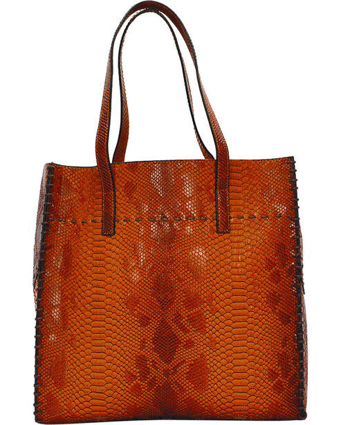 Tyler Rose Women's Alligator Print Tote , Camel, hi-res