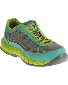 CAT Women's Connexion Steel Toe Work Shoes, Green, hi-res