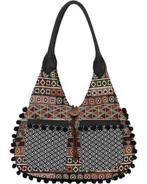 Bandana by American West Black Tulum Scoop Top Tote , , hi-res