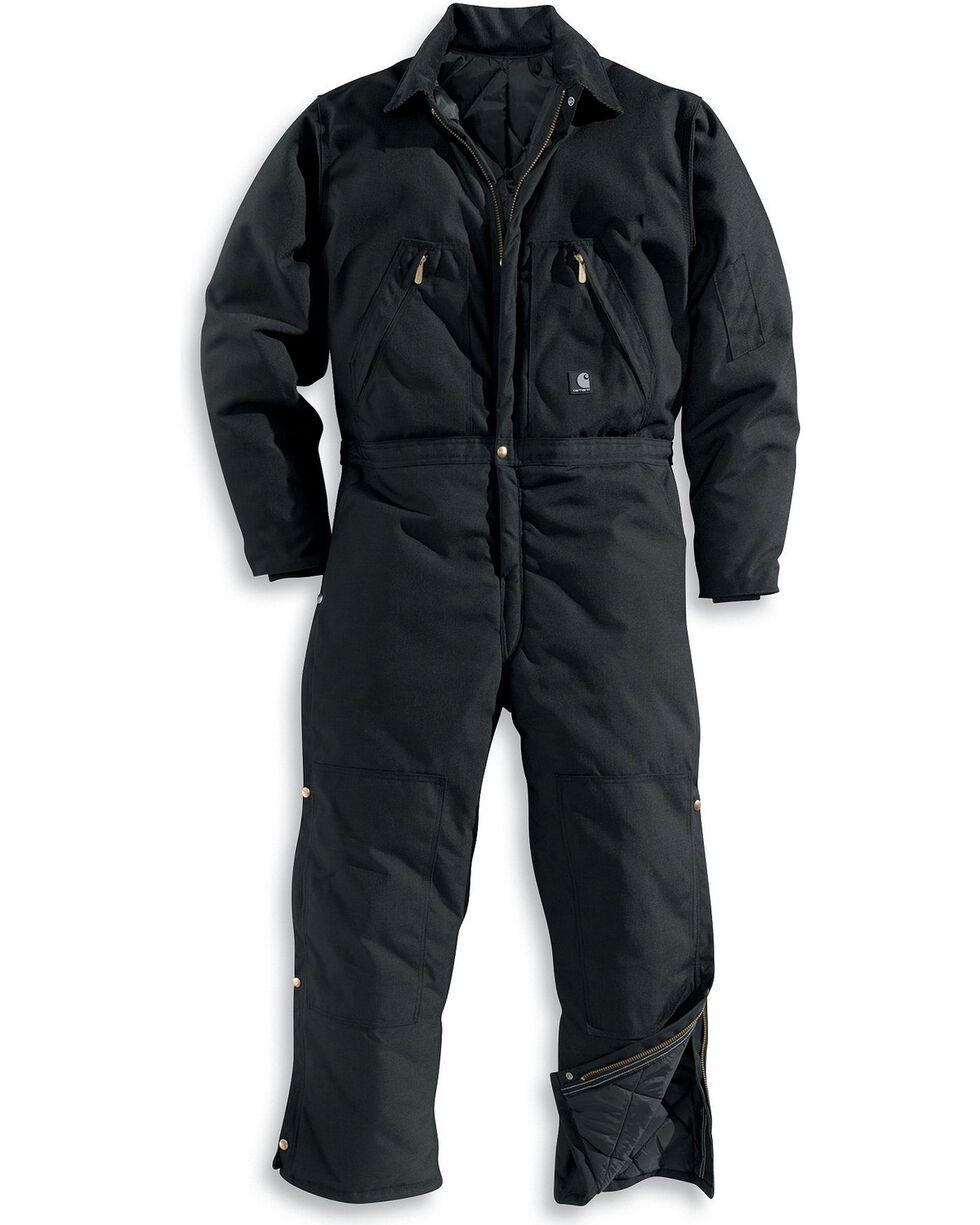 Carhartt Men's Extremes Quilt Lined Artic Coveralls, Black, hi-res