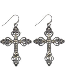 Shyanne® Women's Bling Cross Earrings, , hi-res