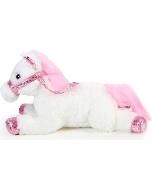Lil' Boot Barn Flopsie Metallic Stuffed Horse, Pink, hi-res