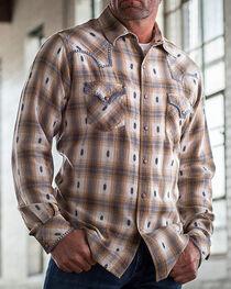 Ryan Michael Men's Ombre Dobby Plaid Shirt, , hi-res
