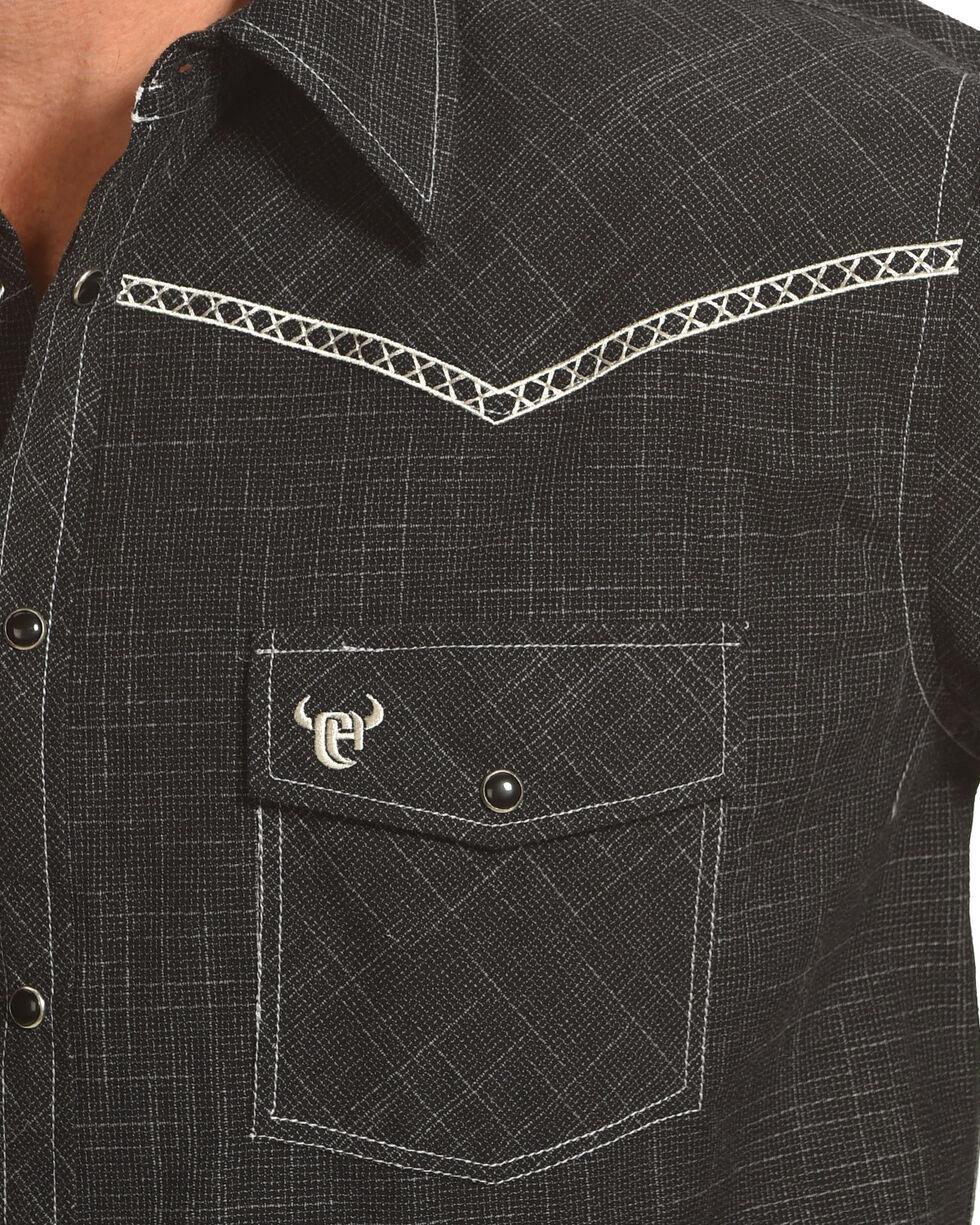 Cowboy Hardware Men's Burlap Print Long Sleeve Shirt, Black, hi-res