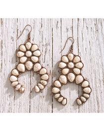 Shyanne Women's Copper and Bone Squash Blossom Statement Earrings, , hi-res