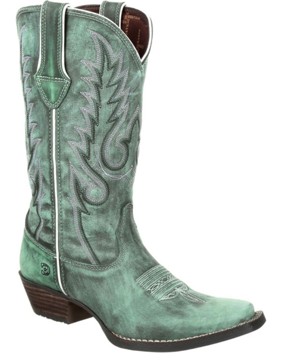 Durango Women's Turquoise Dream Catcher Boots - Narrow Square Toe , Turquoise, hi-res