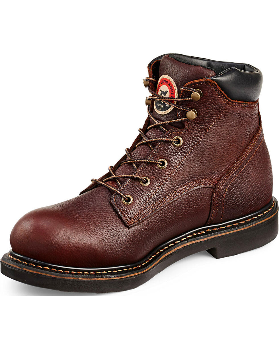 "Irish Setter by Red Wing Shoes Men's Farmington 6"" Work Boots - Round Toe  , Brown, hi-res"