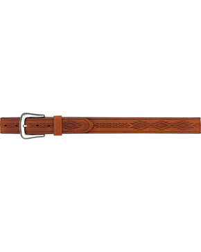 Tony Lama Men's Navajo Blanket Leather Belt, Brown, hi-res