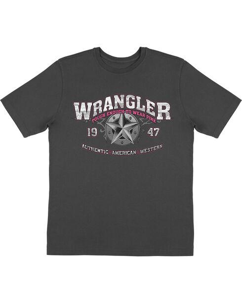 Wrangler Men's Black Tough Enough to Wear Pink Tee , Black, hi-res