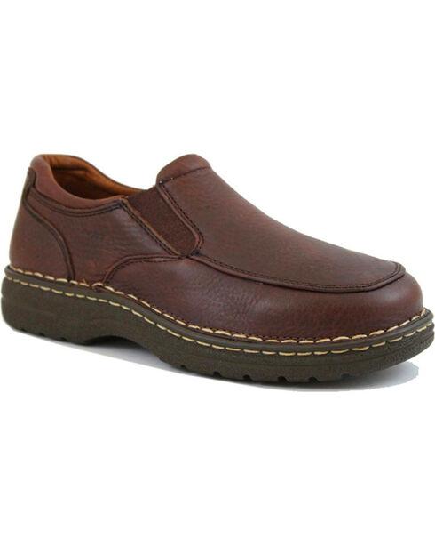 Ad Tec Men's Comfort Gold Casual Shoes, Brown, hi-res