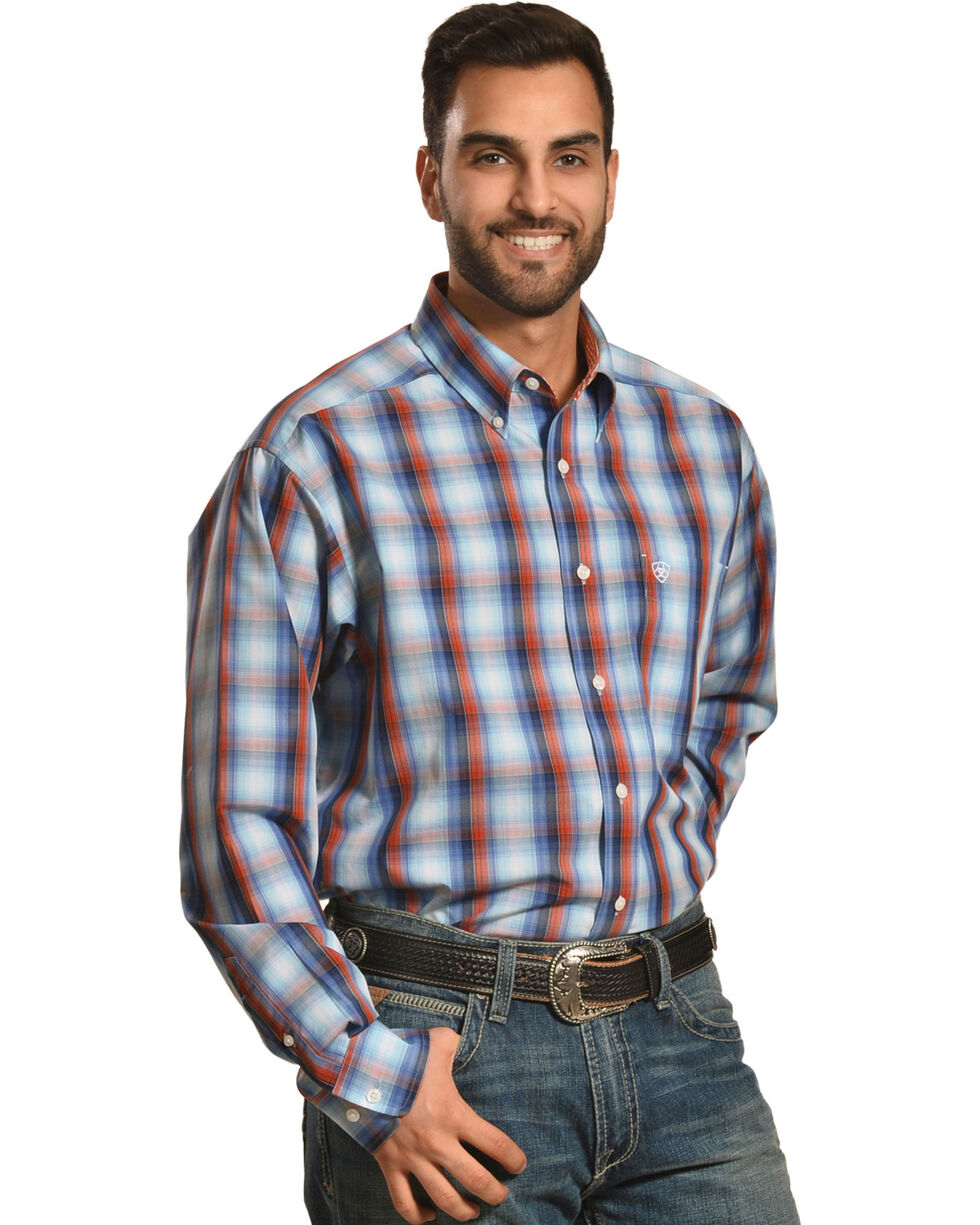 Ariat Men's Keith Plaid Wrinkle Free Long Sleeve Button Down Shirt, Multi, hi-res