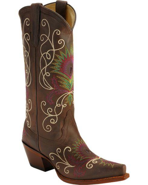 Tony Lama Women's 100% Vaquero Western Boots, Espresso, hi-res