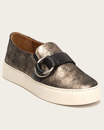 Frye Women's Gunmetal Lena Harness Slip-On Shoes , , hi-res