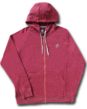 Hooey Men's Red Maverick Full Zip Hoodie , Burgundy, hi-res