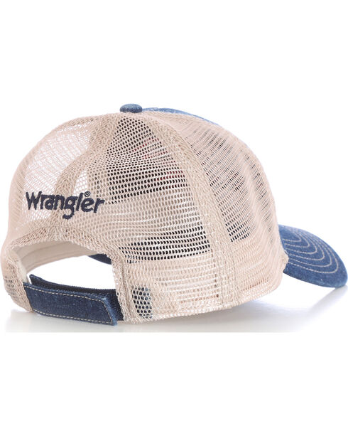 Wrangler Men's Mesh Back Flag Cap, Navy, hi-res