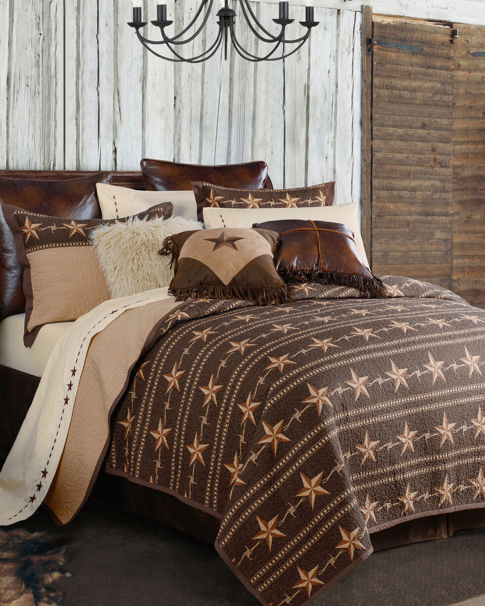 HiEnd Accents Star Ranch 3-Piece Quilt Set - King, Brown, hi-res