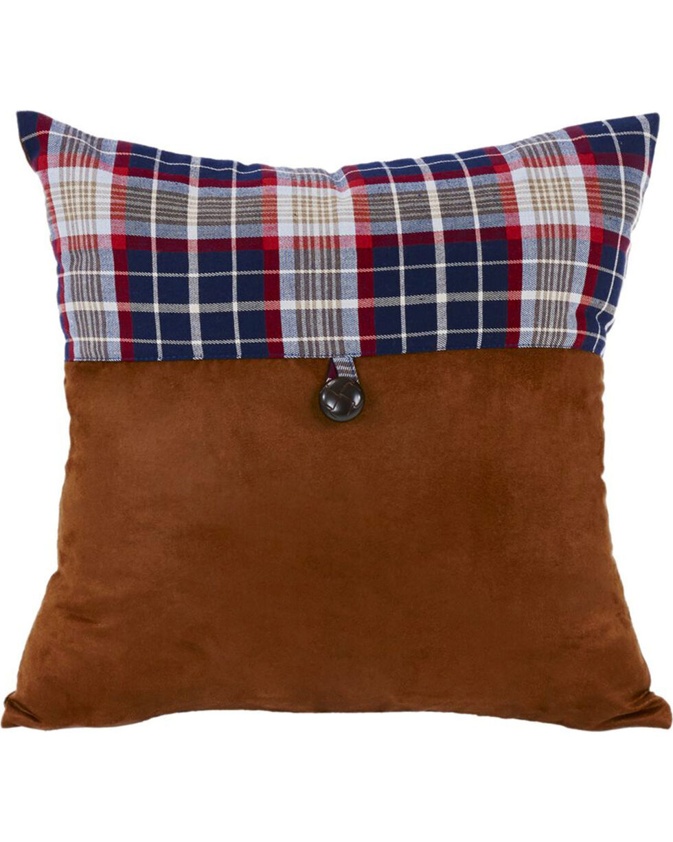 HiEnd Accents South Haven Blue Plaid Envelope Throw Pillow, Multi, hi-res
