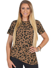Luna Chix Women's Short Sleeve Animal Print Tee, , hi-res