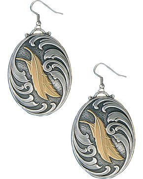 Montana Silversmiths Two Feathers Native Spirit Earrings, Silver, hi-res