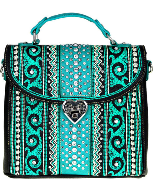 Montana West Women's Bling Bling Collection Tote/Crossbody Bag, , hi-res