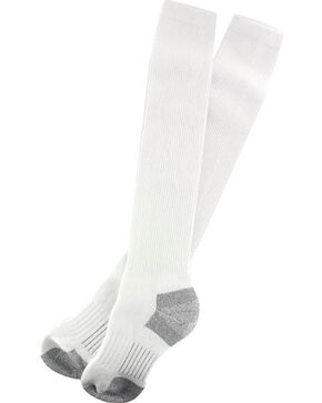 Boot Barn Men's White Western Boot Socks , White, hi-res