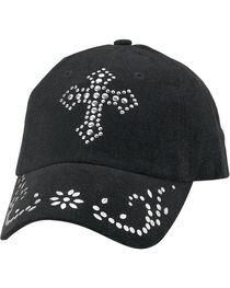 M&F Women's Studded Cross Ball Cap, , hi-res