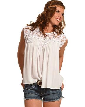 Ariat Women's Candy Short Sleeve Shirt, White, hi-res