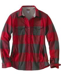 Carhartt Women's Dark Crimson Rugged Flex Hamilton Fleece Lined Shirt, , hi-res