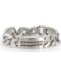Cody James® Men's Silver Chain Bracelet , , hi-res