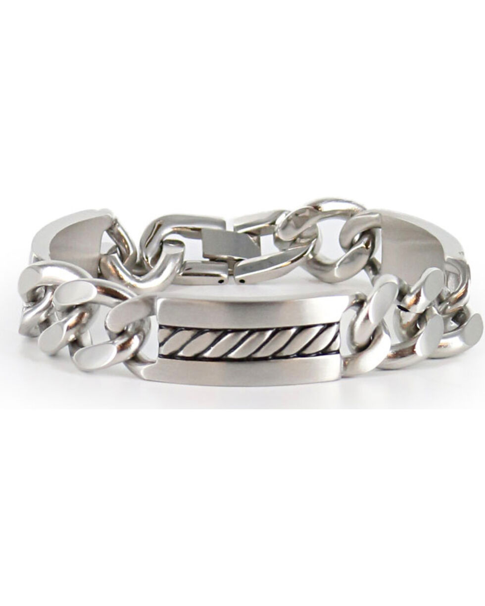 Cody James® Men's Silver Chain Bracelet , Silver, hi-res