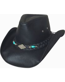 Bullhide Men's Royston Leather Hat, , hi-res