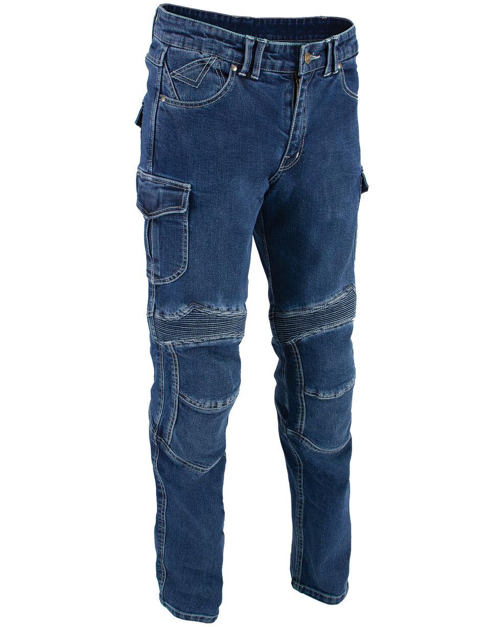 "Milwaukee Leather Men's Blue 32"" Aramid Reinforced Straight Cut Denim Jeans - XBig, Blue, hi-res"