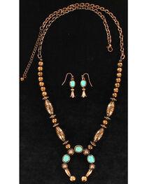 Blazin Roxx Women's Embossed Stone Squash Jewelry Set , , hi-res