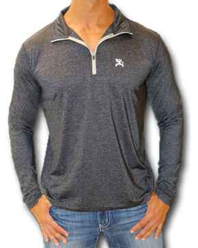 Hooey Men's Black 1/4 Zip Performance Golf Pullover , Black, hi-res