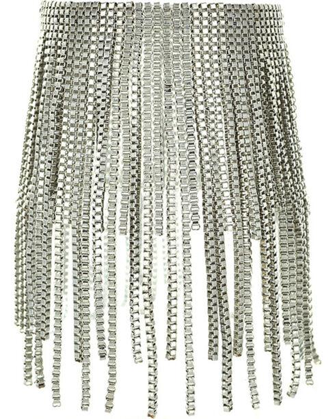 Shyanne® Women's Silver Fringe Bracelet, Silver, hi-res