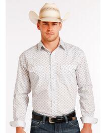 Panhandle Slim Men's White Stablecrest Vintage Print Long Sleeve Shirt , , hi-res