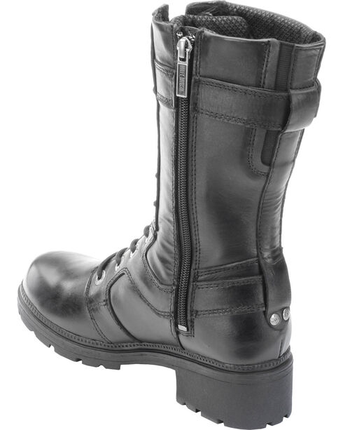 "Harley-Davidson Women's Eda 9"" Lace-Up Motorcycle Boots, Black, hi-res"
