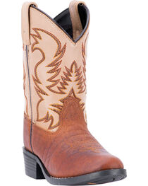 Dan Post Youth Boys' Buckeye Two Tone Western Boots - Square Toe, , hi-res
