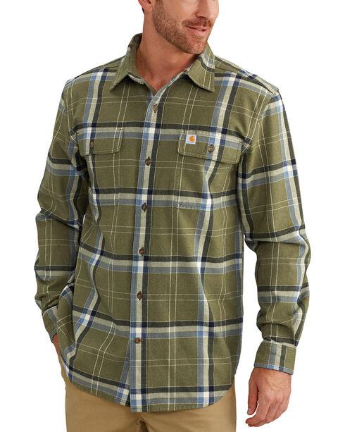 Carhartt Men's Moss Hubbard Plaid Shirt - Tall, Moss Green, hi-res