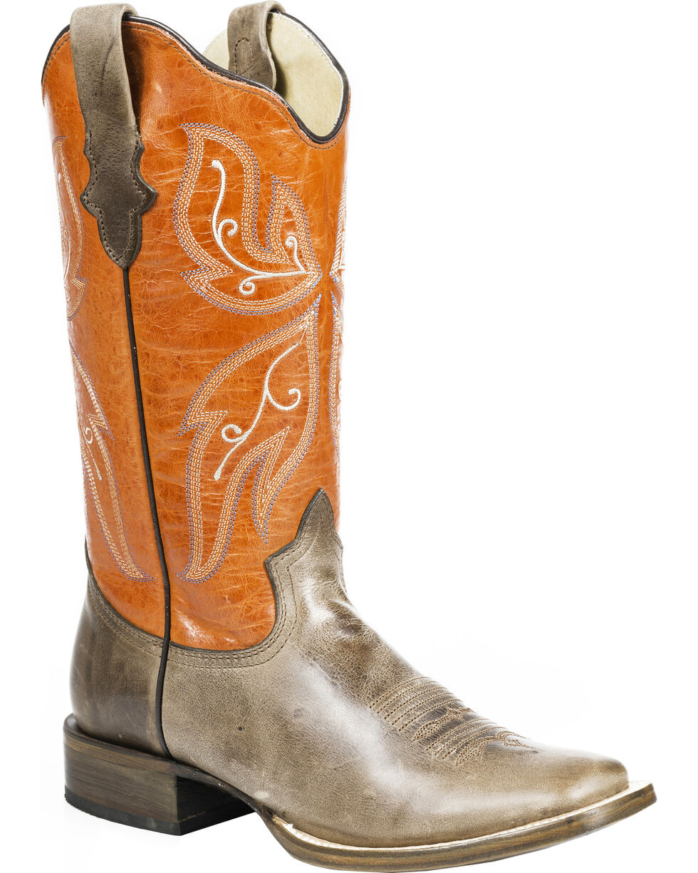 Roper Women's Butterfly Western Boots, Brown, hi-res