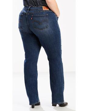 Levi's Women's 414 Classic Straight Oak Blue Jeans - Plus Size, Indigo, hi-res