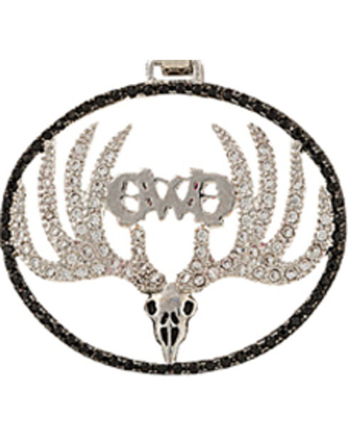Montana Silversmiths Girls With Guns Skull Necklace, Silver, hi-res
